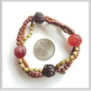 3/$50 Cookie Lee Bracelet with Earth Tone Beads